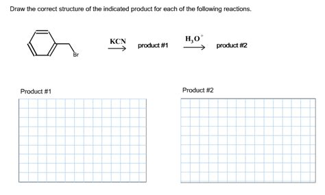 Solved Draw The Correct Structure Of The Indicated Produc