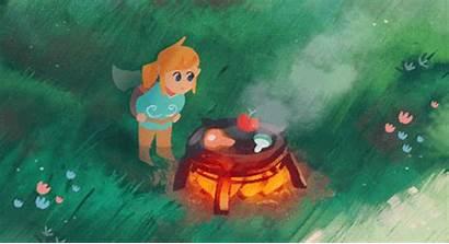 Botw Zelda Breath Legend Cook Wild Gifs