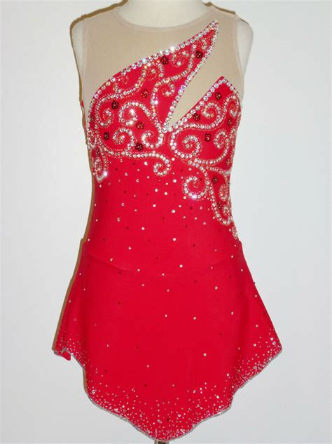 Custom Made To Fit Beautiful Figure Skating Dress With