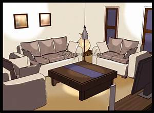Living room cartoon version by ARCHITEMPURA on DeviantArt