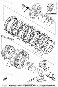 Yamaha Motorcycle 1973 Oem Parts Diagram For Clutch