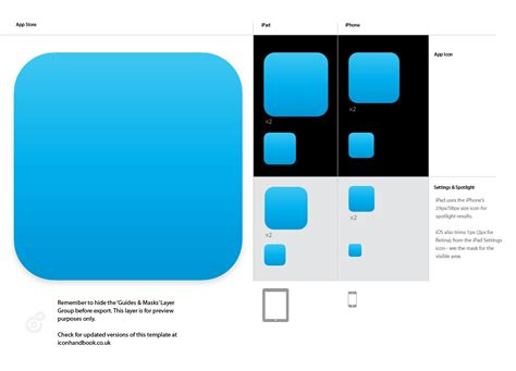 android launch icon template free download ipad icon template