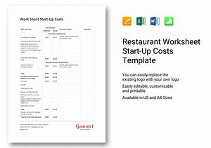 Ms Word Business Letter Template Restaurant Worksheet Start Up Costs Template In Word