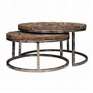 Tisch Holz Metall : 2er set couchtisch verchromt tisch holz metall ~ Somuchworld.com Haus und Dekorationen