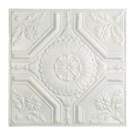 white tin ceiling tiles home depot great lakes tin toronto 2 ft x 2 ft nail up tin ceiling