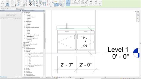 Bathroom Counter Revit by 13 7 Revit Dimensioning The Bathroom Elevation