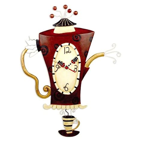 designer kitchen wall clocks wanduhr teekanne kaffeekanne k 252 chenuhr steamin tea clock 6643