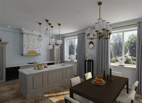 2 Beautiful Home Interiors In Deco Style by Light Moderate D 233 Co Apartment In Blue Shades