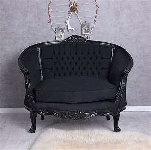 Sofa Barock Gebraucht : sessel barock sofa schwarz sitzbank kanapee barocksofa vintage barocksessel eur 449 10 ~ Indierocktalk.com Haus und Dekorationen
