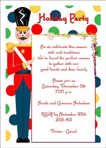 creative christmas party invitations invites wording cimvitation