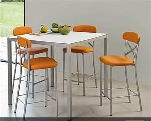 Chaise De Bar Haute : table et chaise haute pour cuisine ~ Teatrodelosmanantiales.com Idées de Décoration