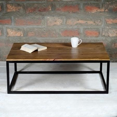 suri modern industrial rectangle coffee table  mango