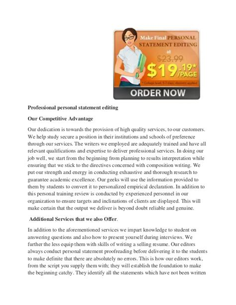 edit your personal statement with professional assistance
