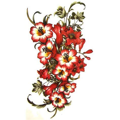 tatouage temporaire fleur dhibiscus