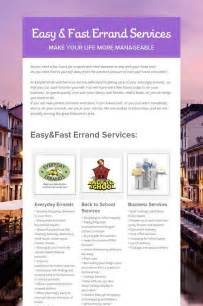Errands Services Business Flyer