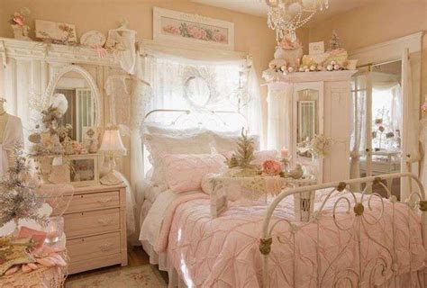 Vintage Bedroom Design With Shaby Chick Style For Medium Room