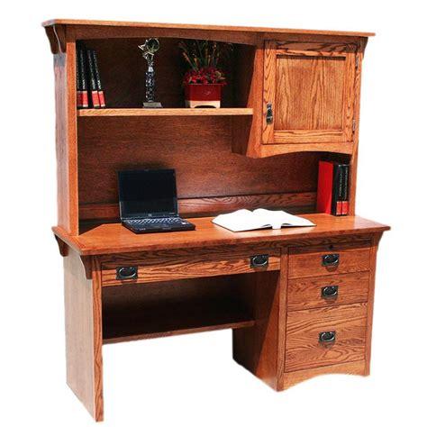 oak desk with hutch desks american mission oakcomputer desk w hutch 698 mh