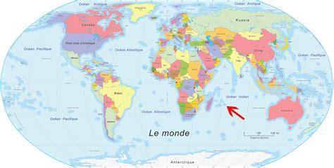 La Réunion Carte Géographique Monde ile de la r 233 union dans le monde voyages cartes