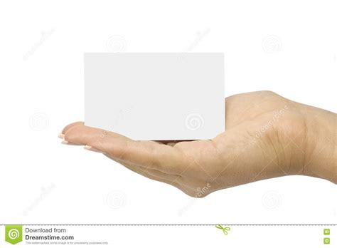hand card stock image image  message hand white