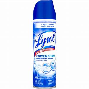 Lysol Power Foam Bathroom Cleaner Soap Scum  U0026 Shine  24 Oz
