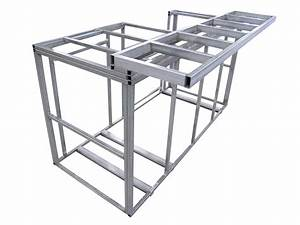 Calflame outdoor kitchen island with bartop frame kit ebay for Outdoor kitchen frame