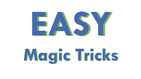Easy Magic Tricks Learn How To Do Magic Tricks With Cards Youtube