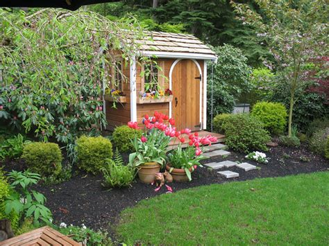 landscaping around a garden shed a glimpse into my shed s future beneath my heart