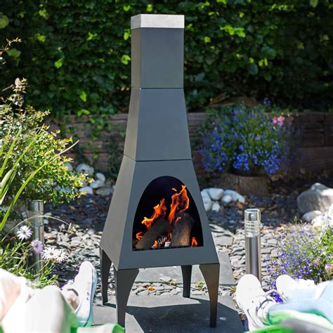 chiminea modern chiminea outdoor patio heater chimeneas bbq grill log