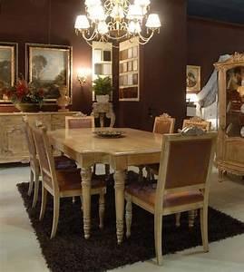 Tavolo Con Sedie Imbottite Per Sala Da Pranzo  Classico Di