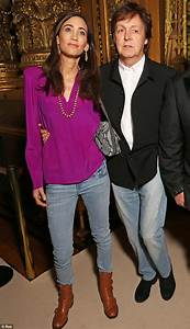 Paul McCartney and wife Nancy sport matching jeans as they ...