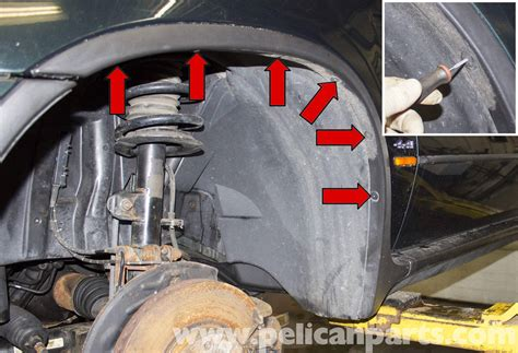 bmw  front  rear wheel  liner replacement