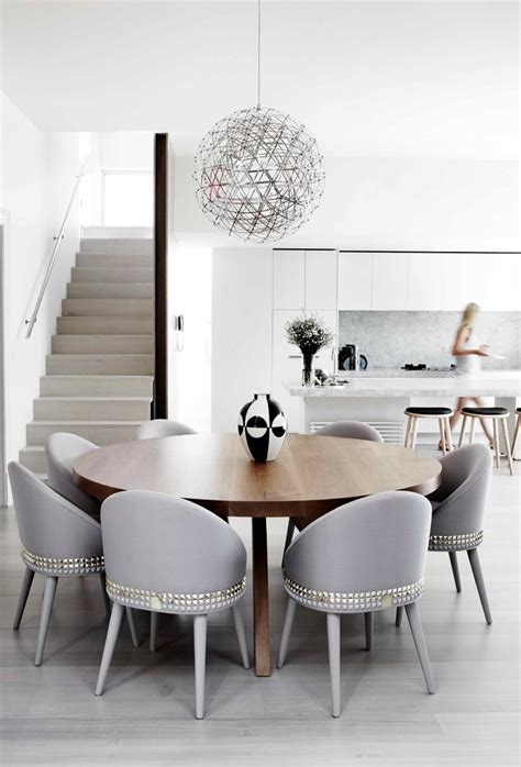 Half Round Dining Table Dining Room Contemporary With Gray
