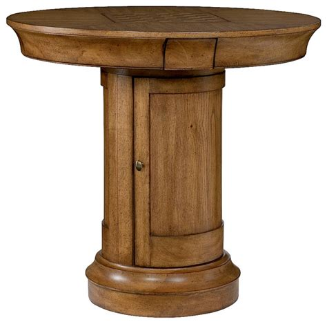pedestal bar table and chairs shop houzz hammary furniture hammary hidden treasures