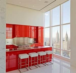 50 idees originales pour la deco cuisine rouge a vous With idee deco cuisine avec objet deco design rouge
