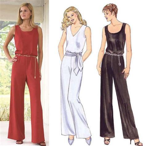 jumpsuit sewing pattern kwik sew sleeveless jumpsuits pattern sewing patterns