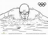 Coloring Swimmer Olympic Sports Pages Summer Worksheet Swimming Swim Worksheets Sport Team Olympics Race Printable Swimmers Water Dibujos Education Clipart sketch template