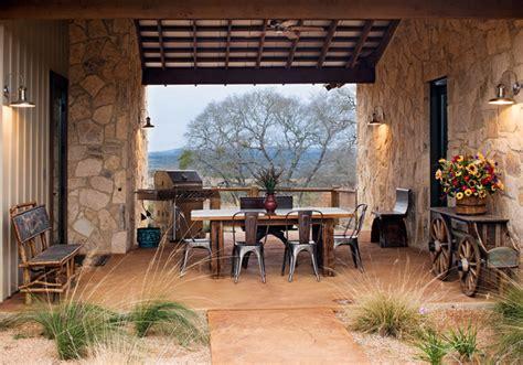 high ridge ranch rustic patio austin  burleson
