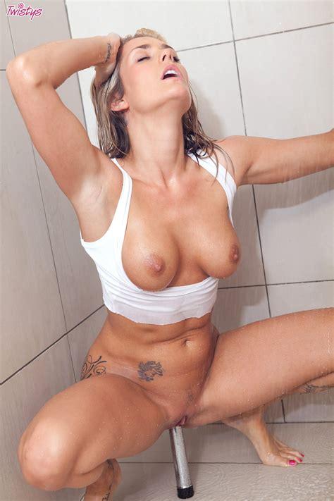 Hot Natasha Marley Loves Masturbating Her Vag Under The Warm Shower Xbabe