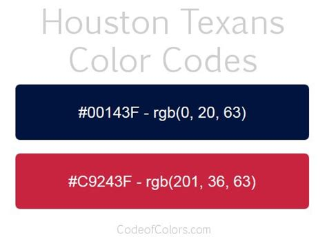 houston texans colors 31 best nhl team colors images on color boards