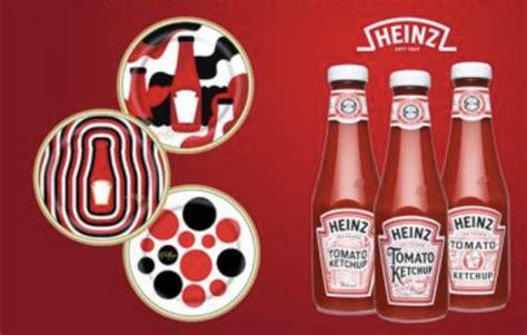 exklusive design teller von heinz ketchup zu gewinnen