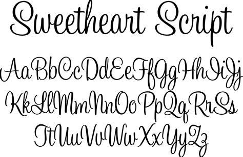 Sweetheart Script Font By Typadelic
