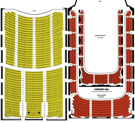 Boston Symphony Hall Seating chart - Boston Symphony Hall ...
