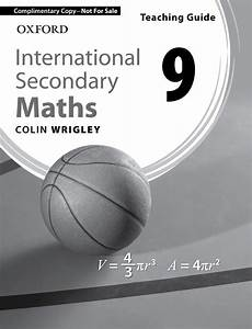 International Secondary Maths Teaching Guide 8