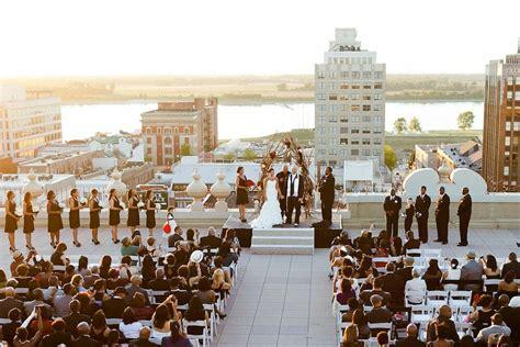 rooftop ceremony   peabody hotel