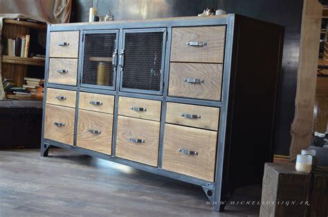 meuble de cuisine industriel buffet de cuisine style industriel