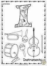 Coloring Alphabet Anastasiya Studio Printable Musical Pages9 Excelent Worksheets Instrument Pdf sketch template