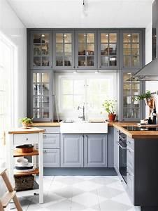deco salon meubles de cuisine gris en bois quelle With idee deco cuisine avec cuisine en bois gris