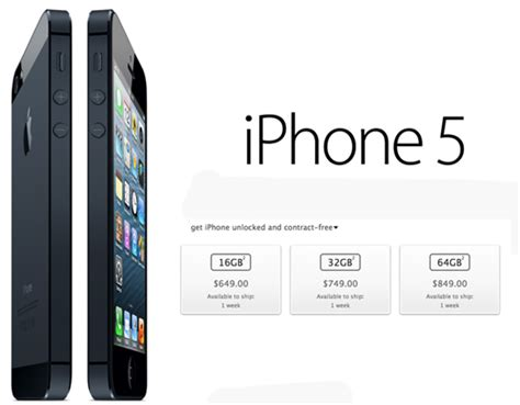 iphone 5 price at t unlocked iphone 5 now available via apple cio