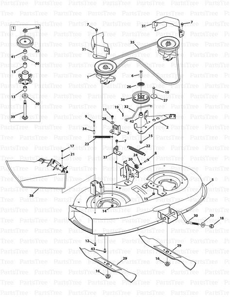 Murray Mower Deck Diagram by Mtd M115 38 Murray 38 Mower 2014 Mower Deck 38