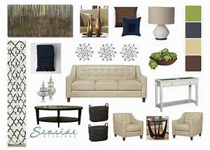 Seaside, Interiors, Relaxing, Earth, Tones, Living, Room, Design, Board